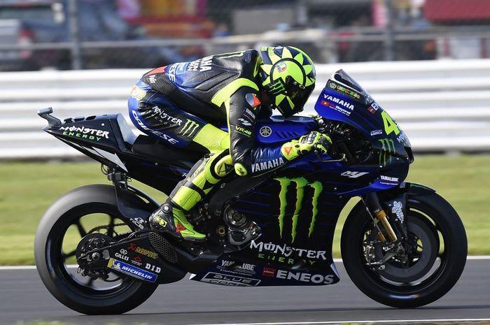 Valentino Rossi dengan Yamaha-nya. Sumber: Gridoto