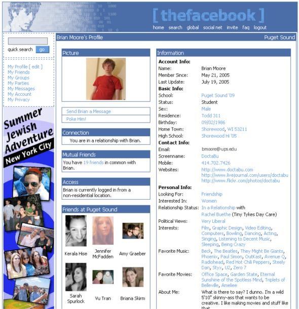 Tampilan Thefacebook.com