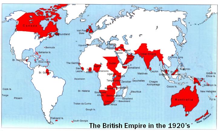 Peta Negara-Negara Jajahan Inggris