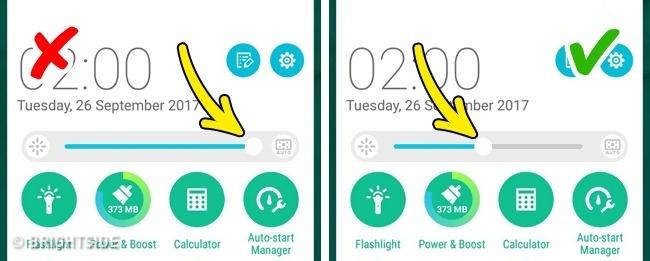 kurangi pencahayaan handphonemu untuk menghemat daya