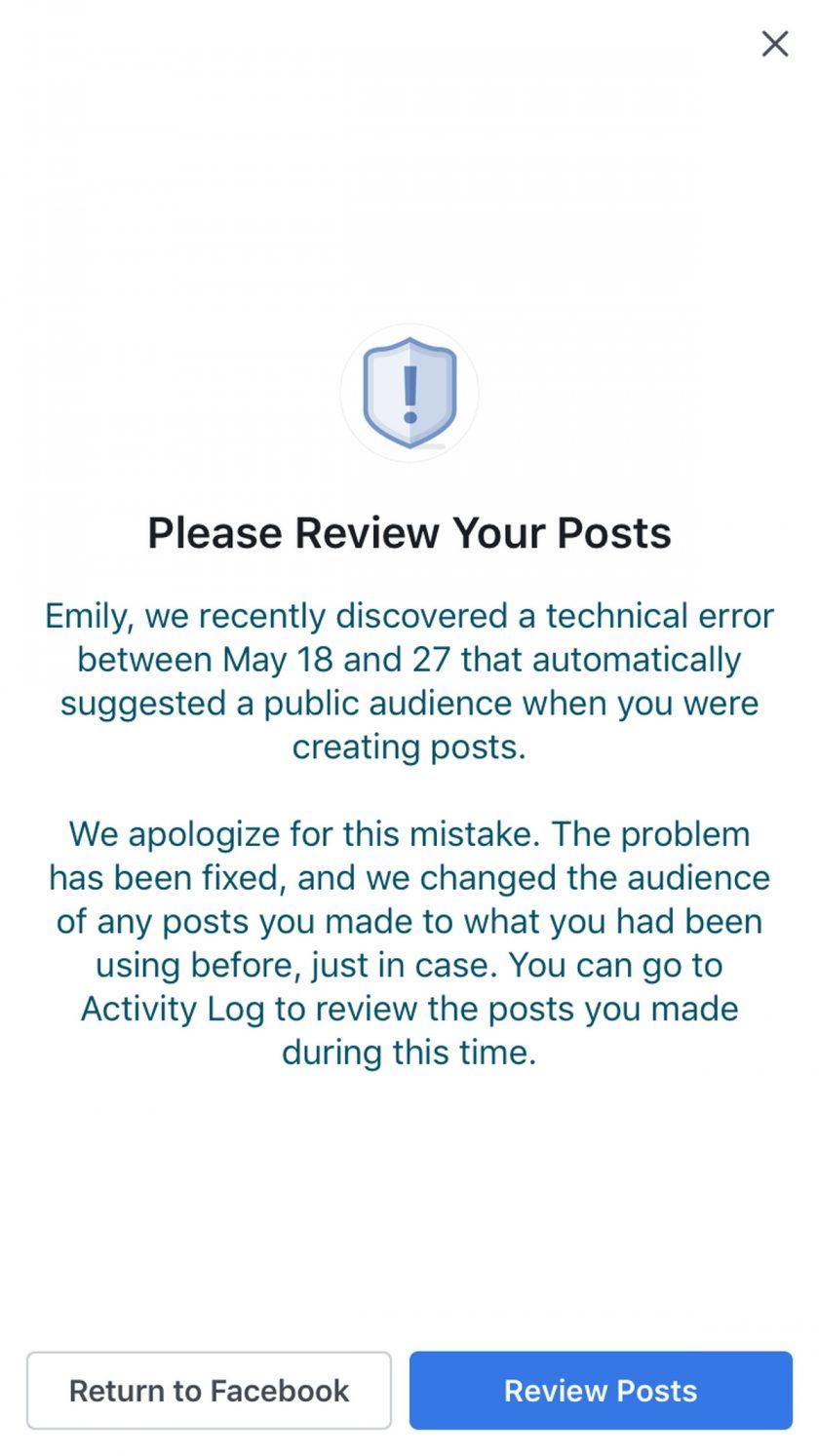Facebook Memberitahukan 14 Juta Orang Tentang Serangan 'Bug'