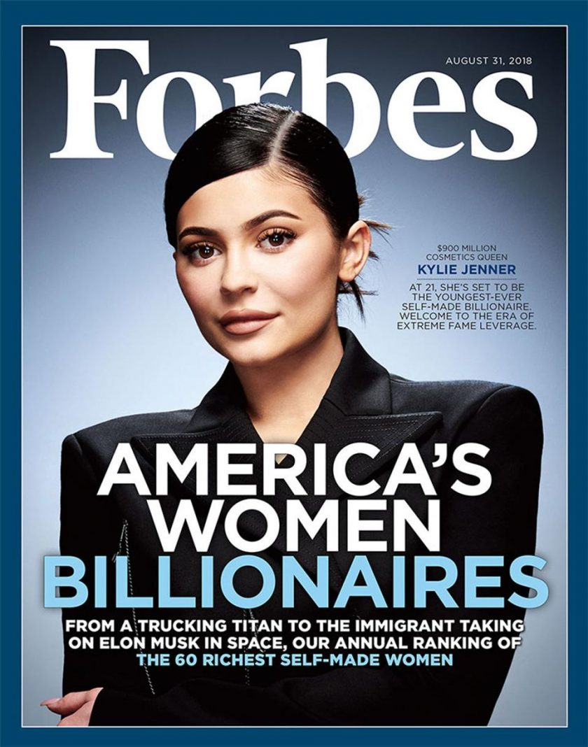 Kylie Jenner, Milyarder Cantik 22 Tahun Jual Saham 600 Juta Dollar. Sumber: Forbes