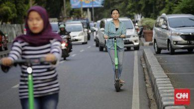 Denda hingga Rp 250.000 untuk Pengendara Skuter Listrik Sewaan yang Berkendara di Jalanan Jakarta. Sumber Foto: cnnindonesia.com