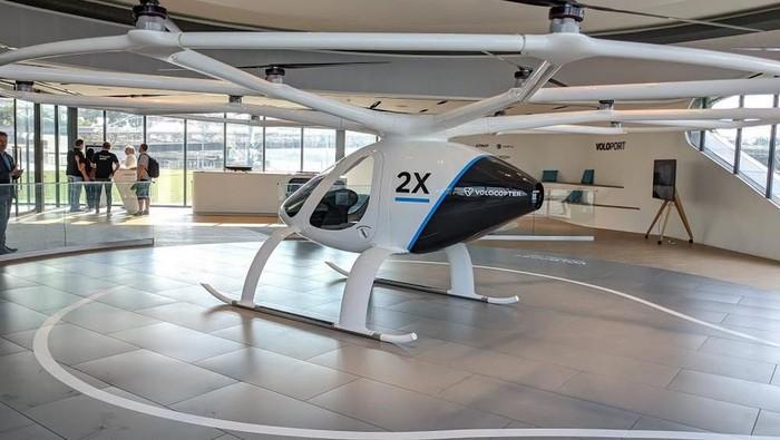 Grab dan Volocopter Akan Melakukan Studi Kelayakan Taksi Udara di Asia Tenggara. Sumber Foto: detik